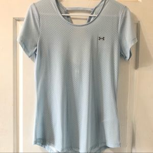 Under Armour Baby Blue NWOT Jersey style Shirt